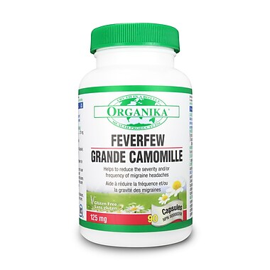 Organika® Feverfew Extract Capsules, 4 x 90/Pack