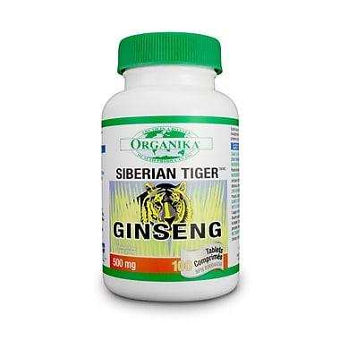Organika® Ginseng Siberian Tiger Vegetarian Capsules, 4 x 180/Pack