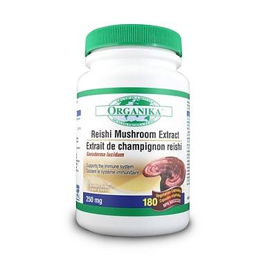 Organika® Mushroom Extract Reishi Vegetarian Capsules, 2 x 180/Pack