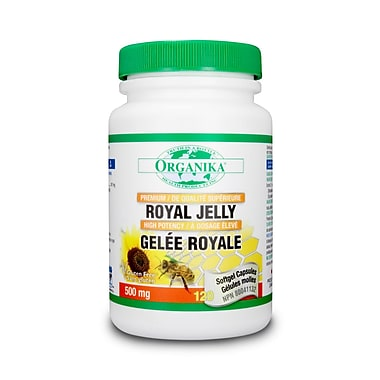 Organika® Premium Royal Jelly Softgels, 2 x 120/Pack