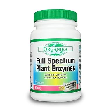 Organika® Full Spectrum Plant Enzymes Vegetarian Capsules, 2 x 120/Pack