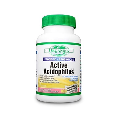 Organika® Active Acidophilus Vegetarian Capsules, 3 x 100/Pack