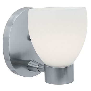 Access Lighting Frisco 1 Light Wall Sconce; Brushed Steel