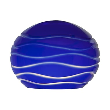 Access Lighting Etched 5'' Glass Sphere Pendant Shade; Blue Lined