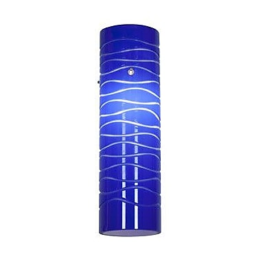 Access Lighting 3'' Anari Silk Cylinder Pendant Shade; Blue Lined