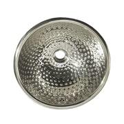 Whitehaus Collection Decorative Round Ball Pein Bathroom Sink; Polished Stainless Steel