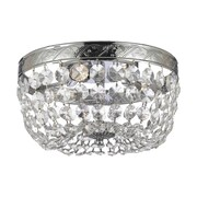 Harrison Lane Empire 3 Light Crystal Chandelier; Silver