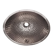 Whitehaus Collection Decorative Undermount Oval Ball Pein Bathroom Sink; Polished Stainless Steel
