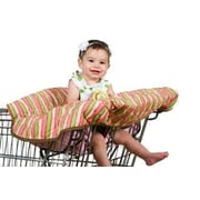 Pam Grace Creations Grocery Cart / High Chair Cover; Coral / Green