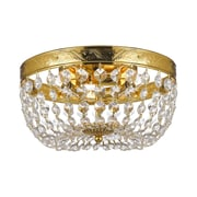 Harrison Lane Empire 3 Light Crystal Chandelier; Gold