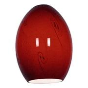 Access Lighting 6'' FireBird Glass Shade; Rusby Sky