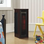Duraflame Twin Star Home 1,500 Watt Portable Electric Infrared Tower Heater; Cherry