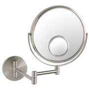 Jerdon Dual Sided Wall Mount Mirror with Spot Mirror