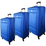 McBrine Luggage Nadia 3 Piece Luggage Set; Blue