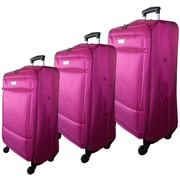 McBrine Luggage Nadia 3 Piece Luggage Set; Rose