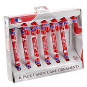 Forever Collectibles MLB Candy Cane Ornaments (Set of 6); Philadelphia Phillies