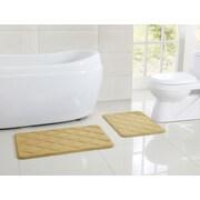 VCNY Diamond Memory Foam Embossed Bath Rug; 1'5'' x 2'