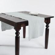 Saro Graciella Fringed Design Stone Washed Runner; Blue/Gray