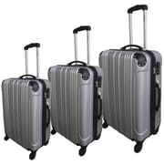 McBrine Luggage 3 Piece Luggage Set; Silver