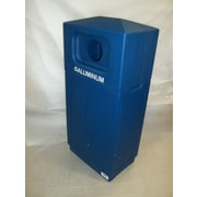 Forte Product Solutions 39-Gal Hooded Top Recycling Bin; Blue