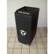 Forte Product Solutions 39-Gal Open Top Recycling Bin; Black