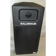 Forte Product Solutions 39-Gal Hooded Top Recycling Bin; Black