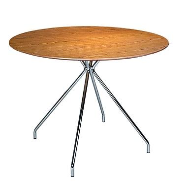Kanto – Table ronde Artika de 39,4 po, miel noyer