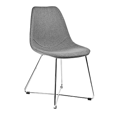 Kanto Artika-X Wool Side Chairs with Chrome Base, Grey, Set of 4