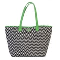 Ame & Lulu Easy Tote; Black/Green