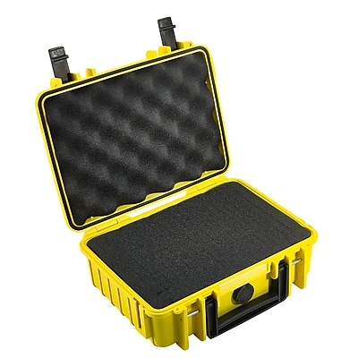 B W Type 1000 Outdoor Case with SI Foam; Yellow
