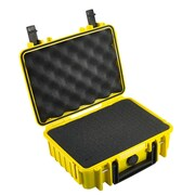 B&W Type 1000 Outdoor Case with SI Foam; Yellow