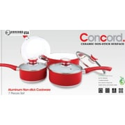 Concord 7 Piece Ceramic Non-stick Cookware Set