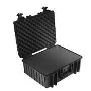 B&W Type 6000 Outdoor Case with SI Foam; Black