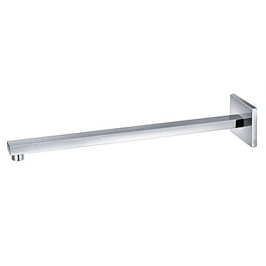 Alfi Brand 16'' Square Wall Mounted Shower Arm for Square Rain Shower Heads; Brushed Nickel