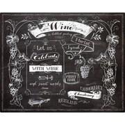 Magic Slice Chalk Talk Wine by Lynnea Washburn Non-Slip Flexible Cutting Board; 12'' L x 15'' W