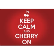Magic Slice Keep Calm And Cherry On Non-Slip Flexible Cutting Board; 7.5'' L x 11'' W