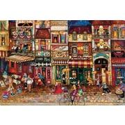 Magic Slice Streets of Paris by Jennifer Garant Non-Slip Flexible Cutting Board; 7.5'' L x 11'' W