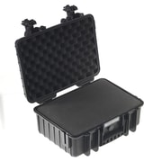 B&W Type 3000 Outdoor Case with SI Foam; Black