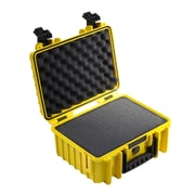 B&W Type 3000 Outdoor Case with SI Foam; Yellow