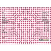 Magic Slice Gingham Dough Non-Slip Flexible Pastry Mat; Red