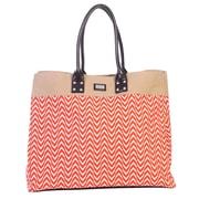 Ame & Lulu Shopper Tote; Tangerine/Khaki