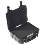 B&W Type 500 Outdoor Case with SI Foam; Black