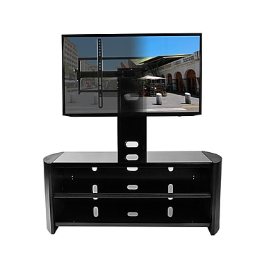 Kanto Oasis 2-in1 TV Stand with Mount, Black