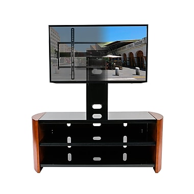 Kanto Oasis 2-in1 TV Stand with Mount, Chestnut