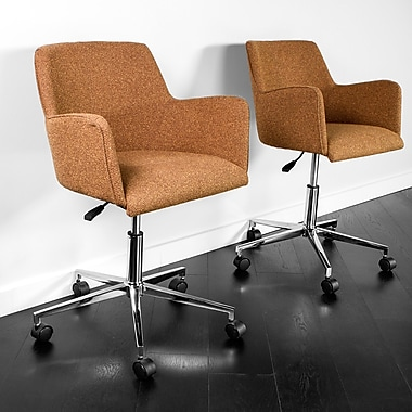 Kanto Palma Star Wool Task Chairs with Chrome Base and Wheels