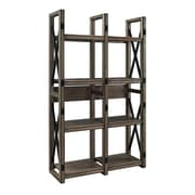 "Altra Furniture Wildwood 9631096 60"" Engineered Wood Bookcase, Rustic Gray"