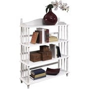 "Altra Furniture Daysha 46""H Solid Wood Bookcase, White (9633096)"