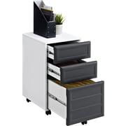 Altra Pursuit Mobile File Cabinet, White/Gray