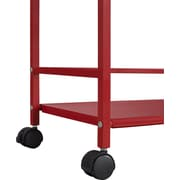 Altra Furniture Marshall 7740296PCOM 2-Shelf Metal Rolling Utility Cart, Red