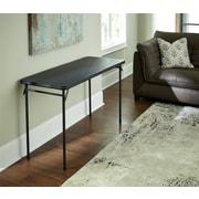 "Cosco 14341BLK1E 20"" x 48"" Plastic/Steel Folding Table, Black"